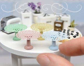 Miniature Cake Stand  - handmade dollhouse- one inch scale 1:12