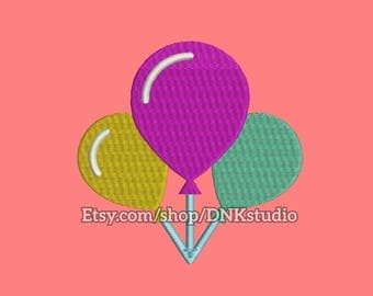 Balloons Embroidery Design - 6 Sizes - INSTANT DOWNLOAD