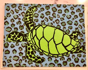 Floral Turtle Card - 01