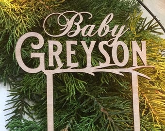 Rustic Baby Shower Cake Topper