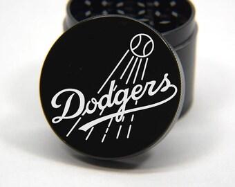 Laser Engraved Herb Grinder - LA Dodgers Logo Design 4 Piece Grinder #ST102