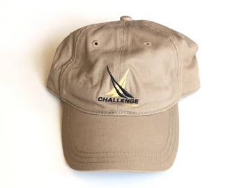 Vintage Nautica Challenge Sailing Gear Competition Adjustable Strapback Hat Cap, Nautica Snapback