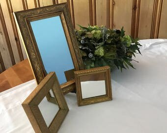 Set of Three Vintage Coordinating Mirrors