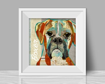 Collage Style Dog Art