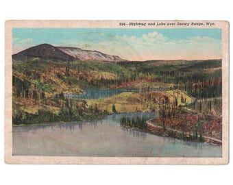 California Vintage Linen Postcard Emerald Bay Lake Tahoe