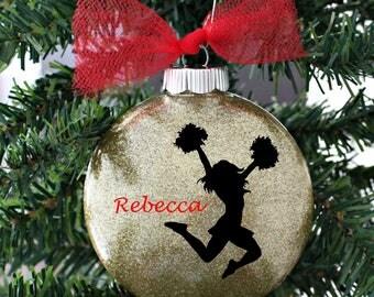 Cheerleader Ornament - Cheerleader Christmas Ornament - Cheerleader Gifts - Cheer Ornament