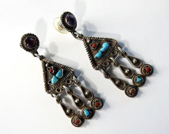 Clicerio Pena Valladeres Mexican Sterling Chandelier Earrings