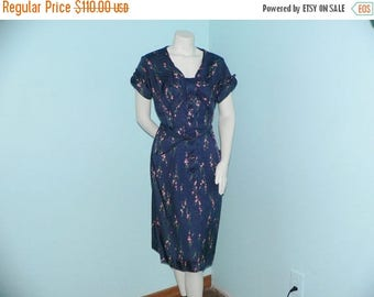 ON SALE 1950's Kerrybrooke Dress with Floral Print