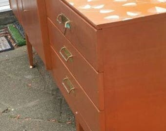 Upcycled Mid Century Credenza Revolving Drinks Cabinet By Beautility