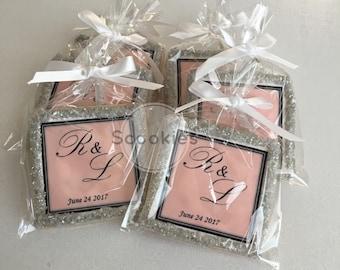 wedding favors cookie favors wedding cookie favors 1 dozen