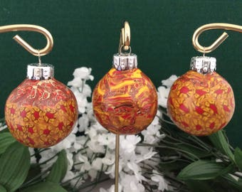 Christmas Ornaments/Place Card Holders - Set of three