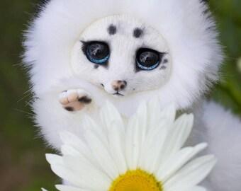Toy little Fox ( Snow color)