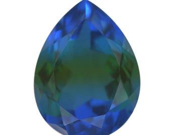 Blue Nile Triplet Quartz Loose Gemstone Pear Cut 1A Quality 16x12mm TGW 8.50 cts.