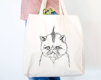 Punky the Persian Cat Tote Bag