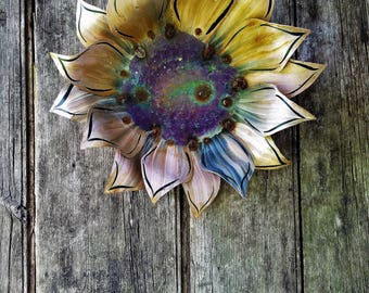 Forever Flowers by #TheBeardedWelder Hanging Sunflower Wall Decor