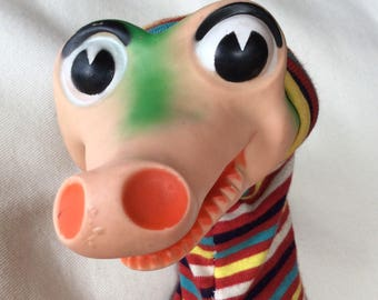 1950's Bil Baird Toy Crocodile Hand Puppet by Ideal Toy Company