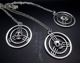 Mad Max Fury Road Skull Steering Wheel Necklace
