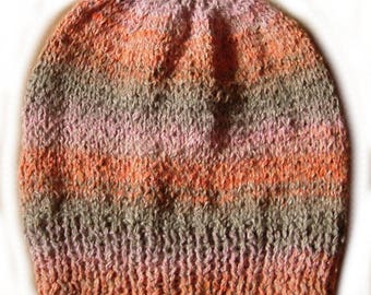 Orange, grey and pink Beanie T54/56
