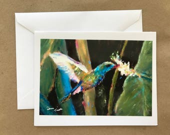 Hummingbird Blank  Note Card