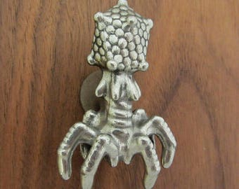 Bacteriophage Drawer Pull - Virus Cabinet Knob, Microbiology, Cell Biology, Phage, Biology Hardware