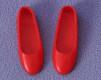 Vintage (Barbie) Skipper Red Japan Flats, Near Mint