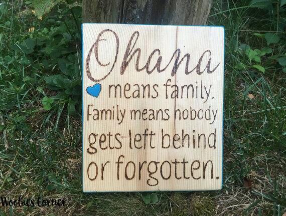 Ohana Sign Ohana Means Family Family Quote Signs Nursery