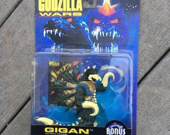 Vintage 1995 Trendmasters Godzilla Wars Gigan Poseable Monster Action Figure *On Card / Unopened*