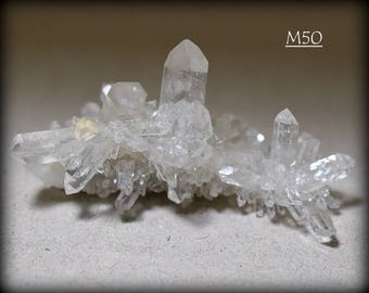 Small, VERY Sparkly Clear Quartz Mineral Crystal Cluster, from Arkansas