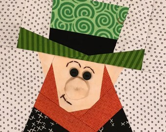 Leprechaun Paper Pieced Block Pattern in PDF