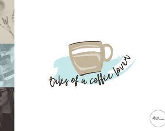 Premade Blog Header Design   Artsy Cute Logo Design   Lifestyle Blog Logo   Coffee Logo Design   Squarespace Logo Design   Wordpress Logo