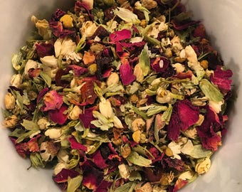 Flower Power Tea-invigorating herbal tea blend