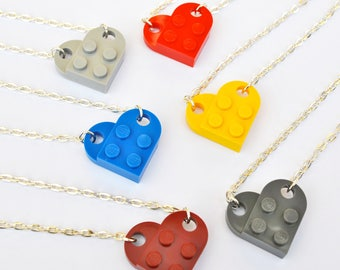 LEGO ® Love Heart Necklace - 7 Funky Colours