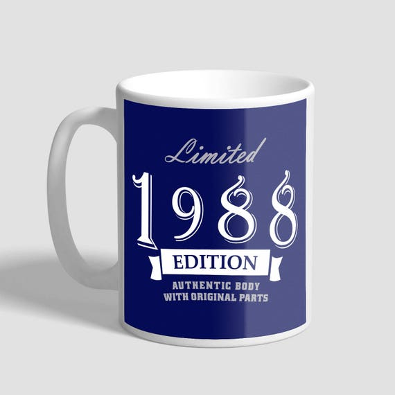30th Birthday For Him, 30th Birthday Present Woman, 30th Birthday Gift For Him, 30th Birthday Idea 1988 Birthday, 30th Birthday Mug