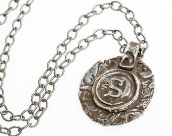 UNION - Waxed seal monogram of fine silver