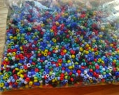 100g bag tiny seed beads - 2mm multi-coloured, crafting / jewellery.
