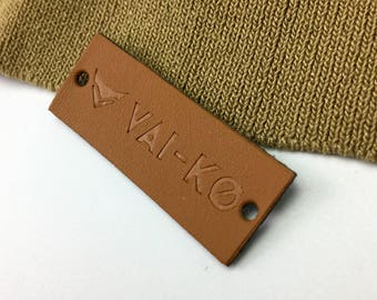 50  Personalized leather patch, leather patch custom,  leather patch logo, leather patches embossed leather labels