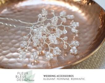 crystal hair pin | silver bridal hair pin | silver hair pin | wedding hair accessory | wedding hair pin | hair pins for wedding