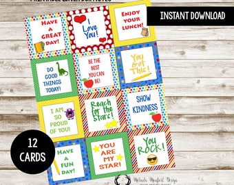 Lunch Box Notes for Kids, Lunch Box Notes, Lunch Box Printables, School Printables, School, Kids, Printables, 8x10, DIGITAL FILE ONLY