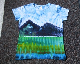 Yosemite, Glacier, Yellowstone, large, earth day, tie dye shirt