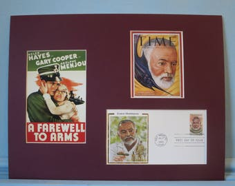 Famed Author Ernest Hemingway & First Day Cover of his own stamp