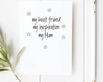 Mother's Day Card for Mum/Mom Birthday Card for Mum Mom