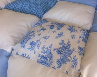 Blue and white quilt only to order