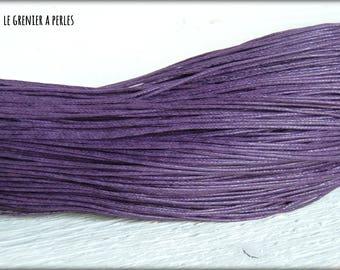 5 M Purple 1 mm waxed cotton cord