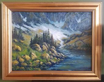 Rock Mountain River Bend 18x24