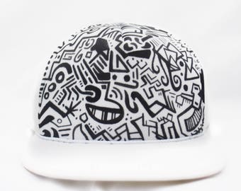 Hat: Black/White