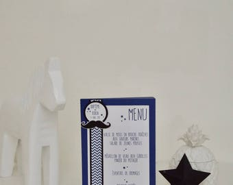 """Menu table on the """"Mustache"""" Midnight blue, black color theme and Chevron"""