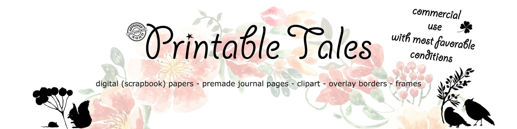 Commercial Use Digital Papers Clip Art von PrintableTales auf Etsy