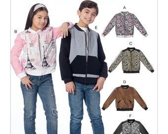 McCall's Pattern M7619 Children's/Girls'/Boys' Bomber Jackets