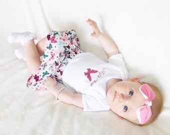 Girl's Personalised Skirt Set - Butterly Beautiful