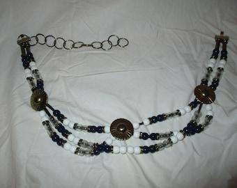 Vintage beaded concho belt